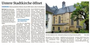 2016-03-30 WNZ Untere Stadtkirche Öffnung im Sommer